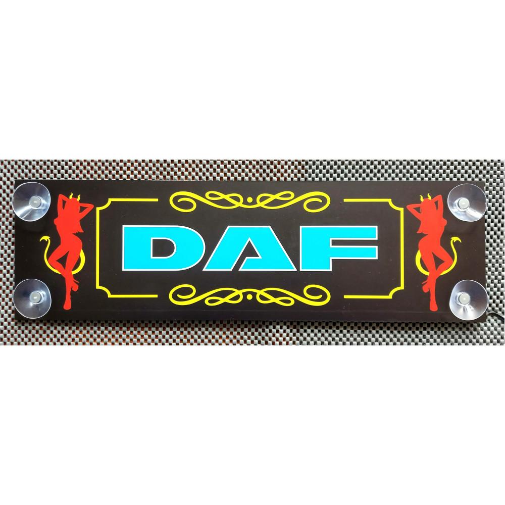 LED табличка з написом DAF, 24 В. 500x150 мм