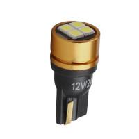 LED лампочка T10 W5W, 24В, 4 SMD 3030 LED,  6000 K