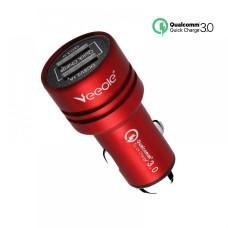 Автомобільний зарядний пристрій Veecle, QC01, 12 - 24В