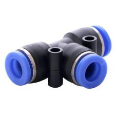 Фітинг пневматичний, пластиковий, T подібний трійник, тип PE, Ø 4 мм