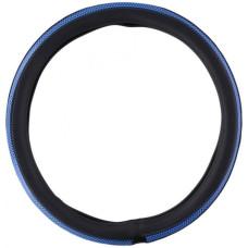Чохол на кермо вантажного автомобіля чорного кольору з вставками синього кольору, 44-46 см, артикул: 8711252225210