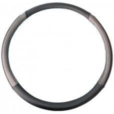 Чохол на кермо вантажного автомобіля чорного кольору з вставками срібного кольору, 49-51 см, артикул: 8711252855301