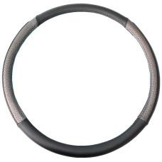 Чохол на кермо вантажного автомобіля черного кольору з вставками срібного кольору, 47-48 см, артикул: 8711252855325