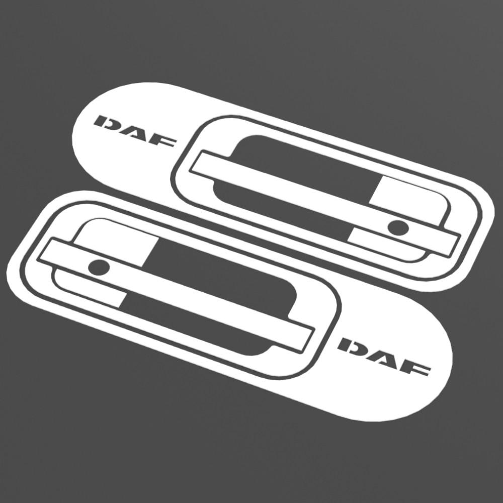 Комплект накладок з нержавіючої сталі на ручки дверей DAF  XF 95, XF 105.