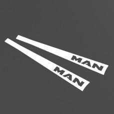 Комплект накладок на склоочисники (двірники) MAN, TGA, TGX, TGL з нержавіючої сталі, комплект 2 шт.