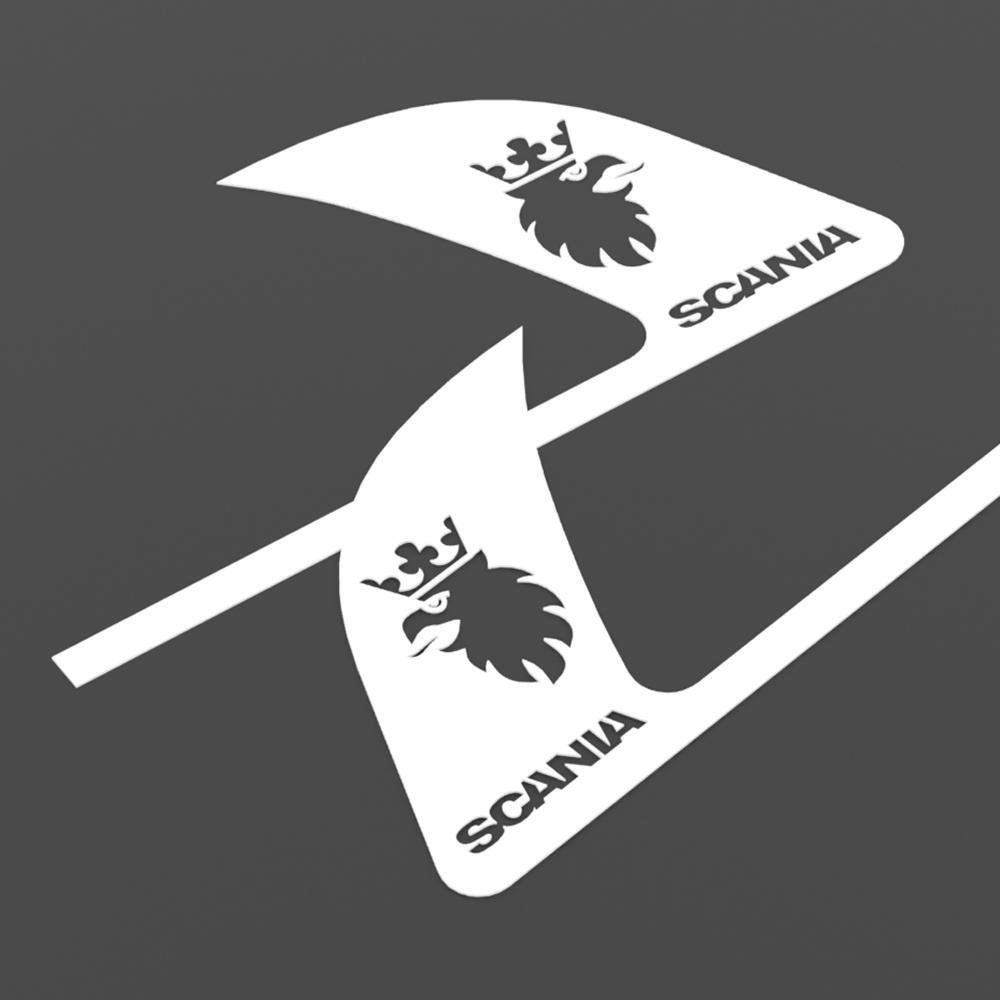 Комплект накладок з нержавіючої сталі на ручки дверей SCANIA R, G, P, L